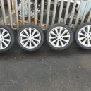 VW TRANSPORTER T4 ALLOY WHEELS AND TYRES 235-50ZR-18 (SET OF 4) 1997 - 2003